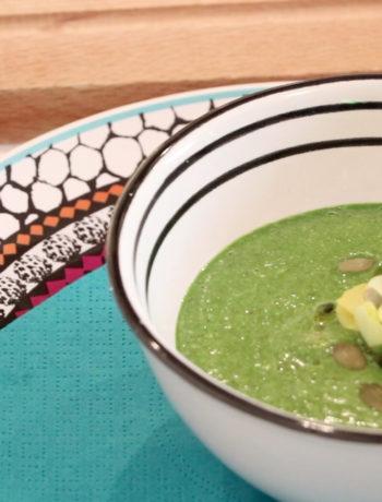 vellutata di spinaci e avocado